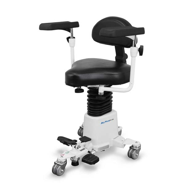 AlphaGlide Surgeon Stool Front View
